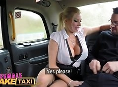 Female Fake Taxi Reporter receives hot sex scoop and deepthroat blowjob  625sec.