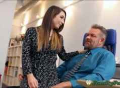 Daughter Bambi Brooks Slutty Secretary Experience With Stepfather...