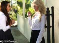 Elsa Jean and Karlee Grey Skip School to eat Pussy...