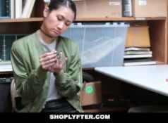 Shoplyfter Asian Cutie Busted For Stealing...
