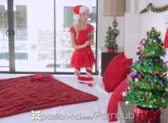 Passion HD Petite Piper Perri unwraps her wet gift on xmas...