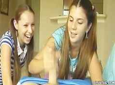 Awesome Two Girl Teen Handjob...