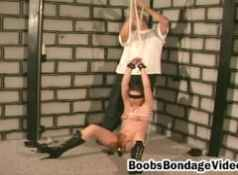 Blonde milf rough and intense BDSM...