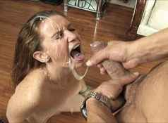 EMily Eve gives a free handjob to Marco and is eventually her face gets a facial from a massive cum shot....