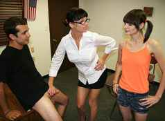 When teenage delinquent Chloe is busted for jerking off boys in class, her angry step mom Angie Noir...