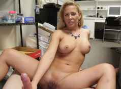 Your cock gets hard fast whenever Cherie Deville is around. This time she milks your hard cock and she...