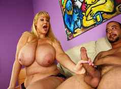 Busty MILF Samantha scolds young Joey for beating his meat. Joey begs for a handjob but Samantha is furious....