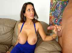 Mrs. Persia is asleep when her horny neighbor boy sneaks over to take a look at her massive juggs. He...