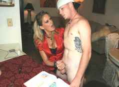 Young Mikey and his perverted tutor Mrs. Bridgett Lee have a special agreement. Whenever Mikey looses...