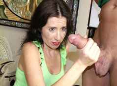 Mom Tatiana is sleeping when young Billy takes notice. The horny guy starts jerking off right in front...