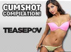 The best cumshots from the hottest porn girls blowjobs and cumshots from TeasePOV.com...